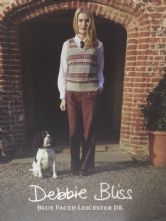 Blue Faced Leicester DK Designs by Debbie Bliss. Book features 12 Knitwear Designs